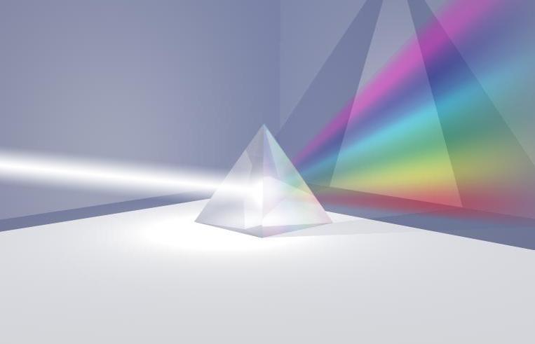 Refracción de los rayos luminosos por colores